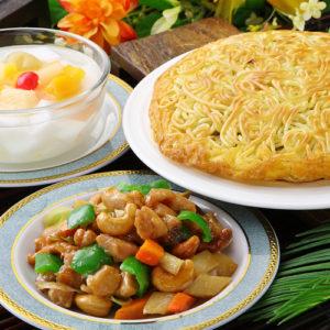 梅蘭焼きそば&鶏肉とカシューナッツ炒めセット