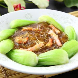 蟹肉とフカヒレの煮込み