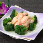 蟹肉とブロッコリーの炒め